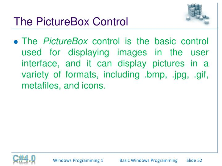 The PictureBox Control