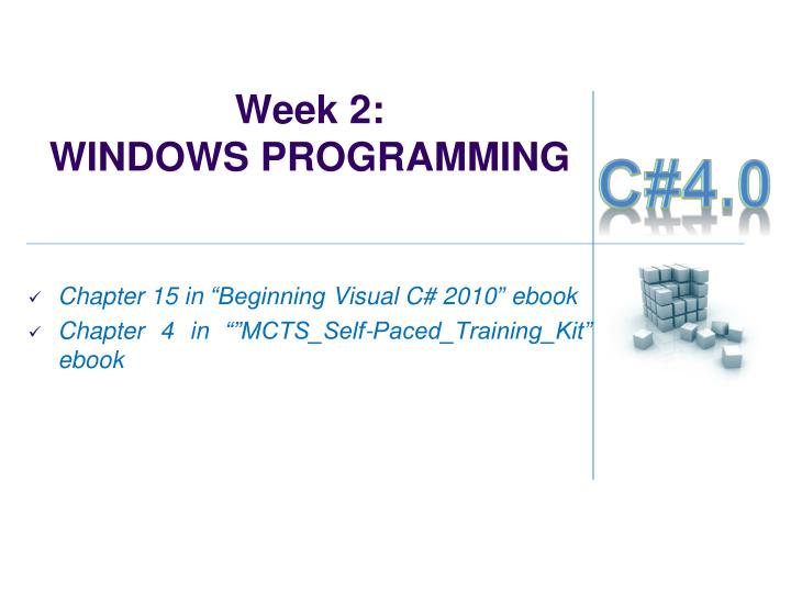 Week 2 windows programming