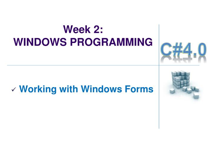 Week 2 windows programming1