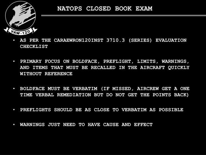 NATOPS CLOSED BOOK EXAM