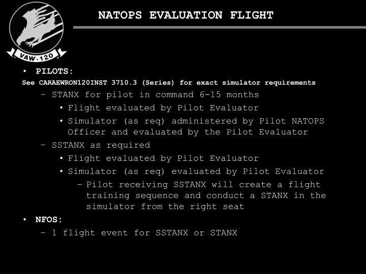 NATOPS EVALUATION FLIGHT