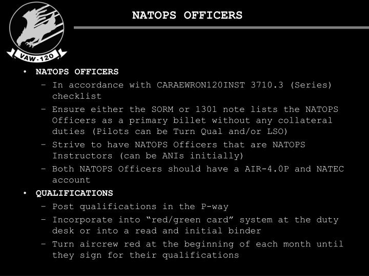 NATOPS OFFICERS