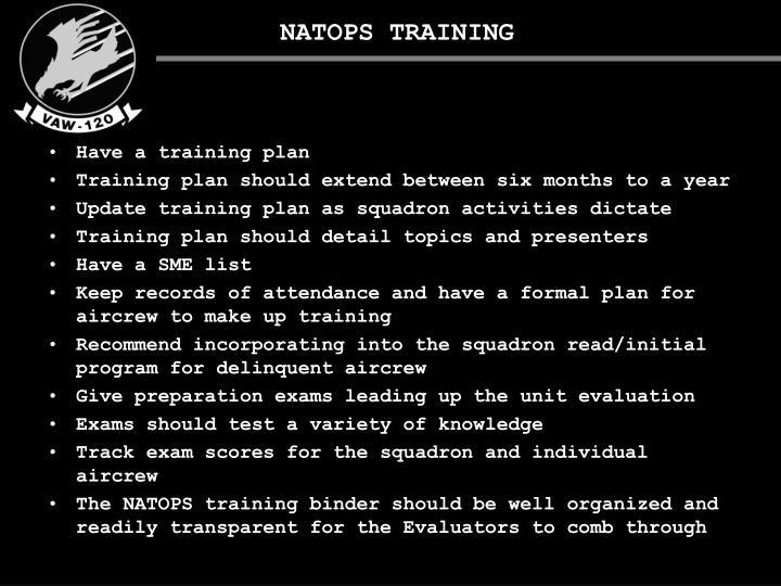 NATOPS TRAINING