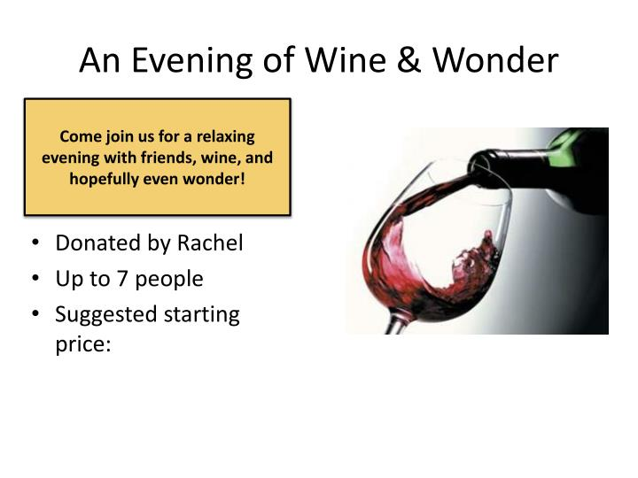 An Evening of Wine & Wonder
