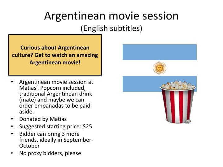 Argentinean movie session