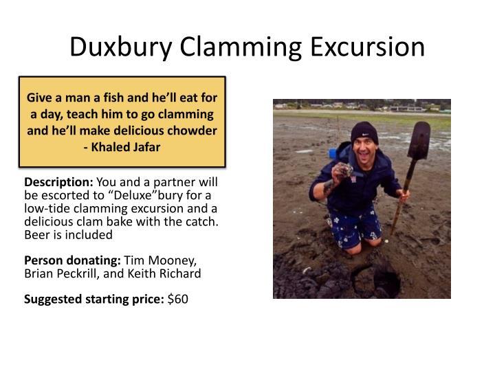 Duxbury Clamming Excursion