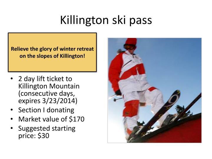 Killington ski pass