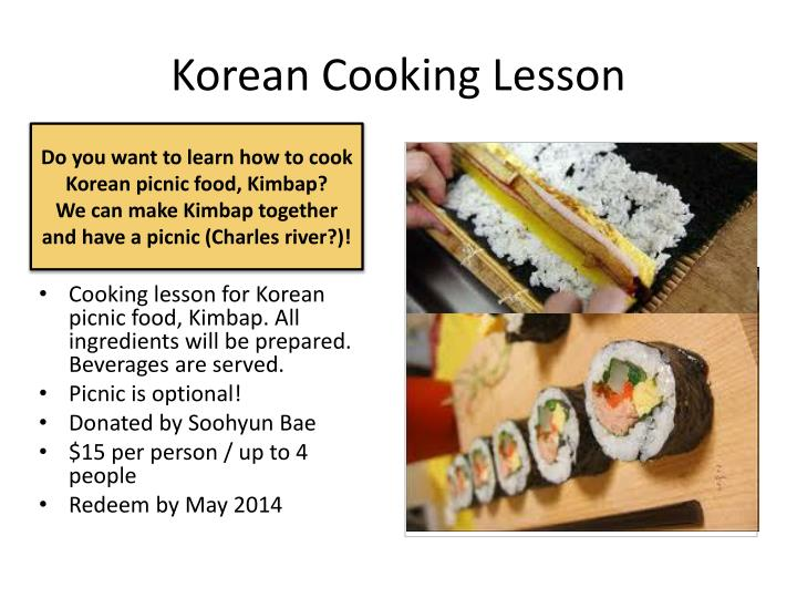 Korean Cooking Lesson
