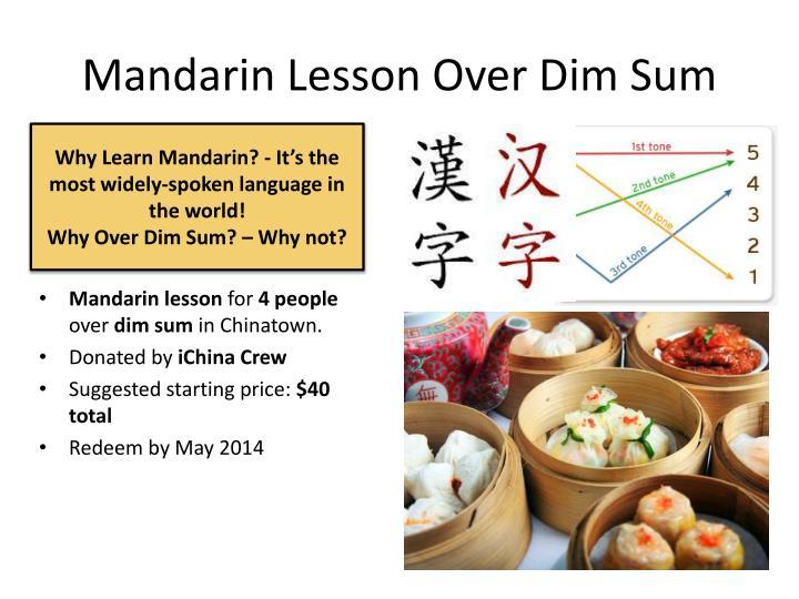 Mandarin Lesson Over Dim Sum