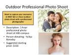outdoor professional photo shoot