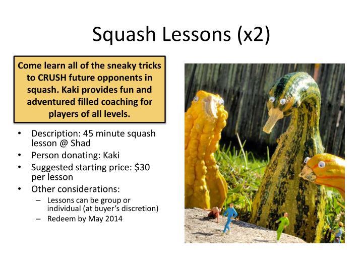 Squash Lessons (x2)