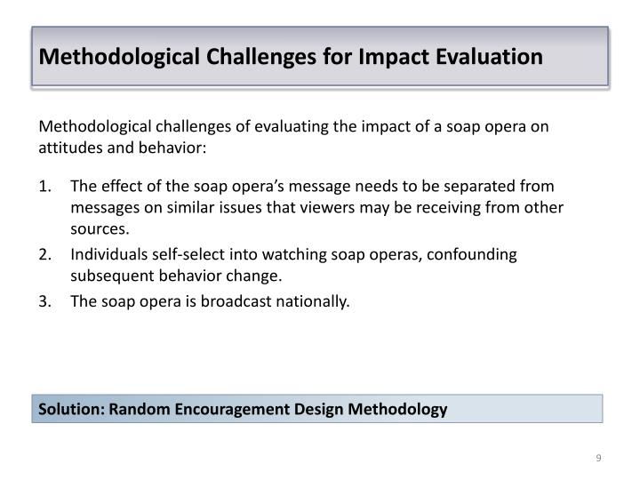 Methodological Challenges for Impact Evaluation