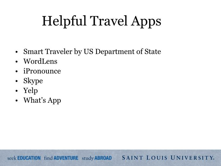 Helpful Travel Apps