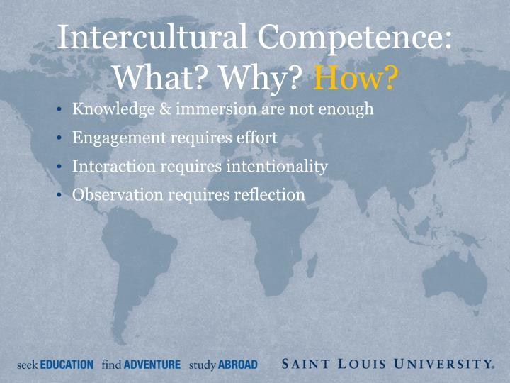 Intercultural Competence: