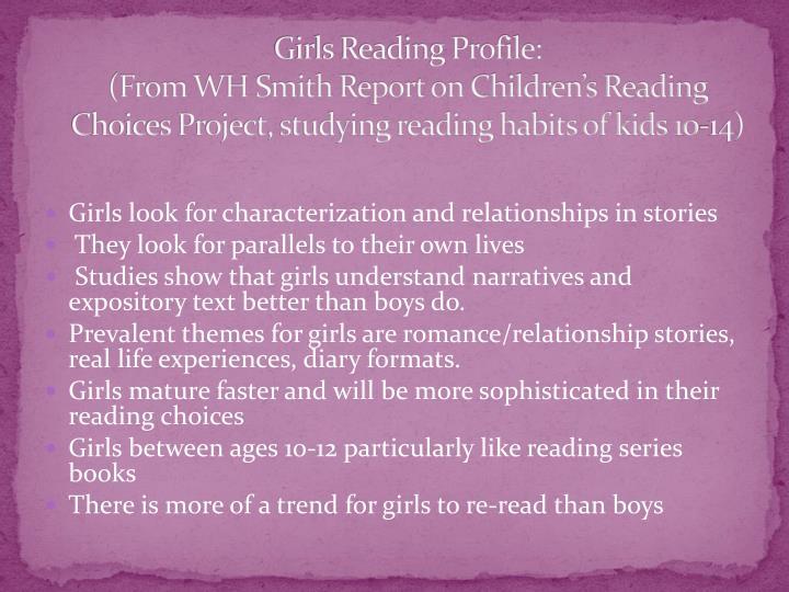 Girls Reading Profile: