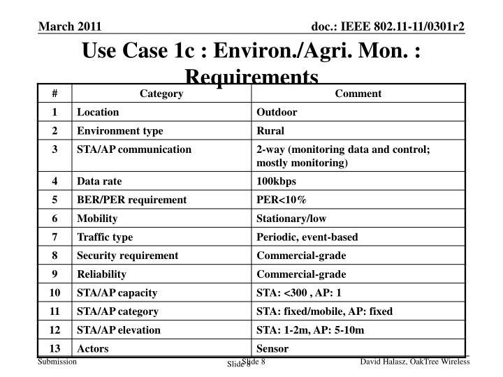 Use Case 1c