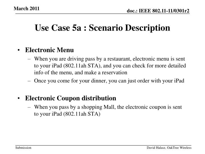 Electronic Menu