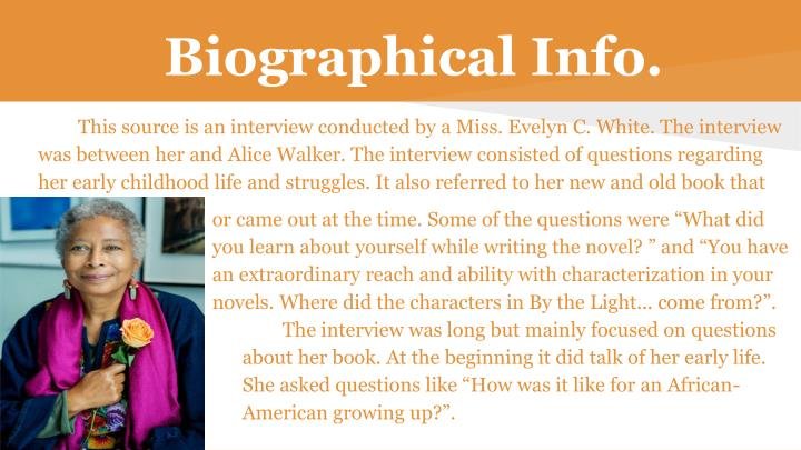 alice walker nineteen fifty five essay Analysis of alice walker's short fictional tale, nineteen fifty-five alice walker's short fictional tale, nineteen fifty-five, revolves around the encounters among gracie mae still, the narrator, and traynor, the emperor of stone.