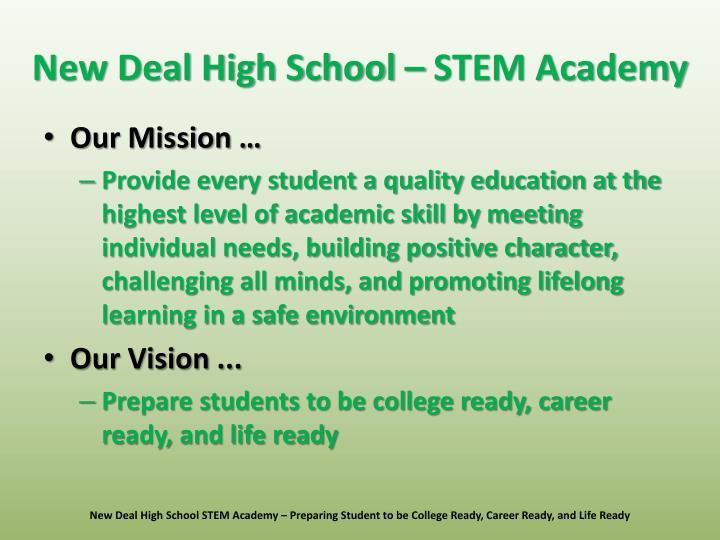 New Deal High School – STEM Academy