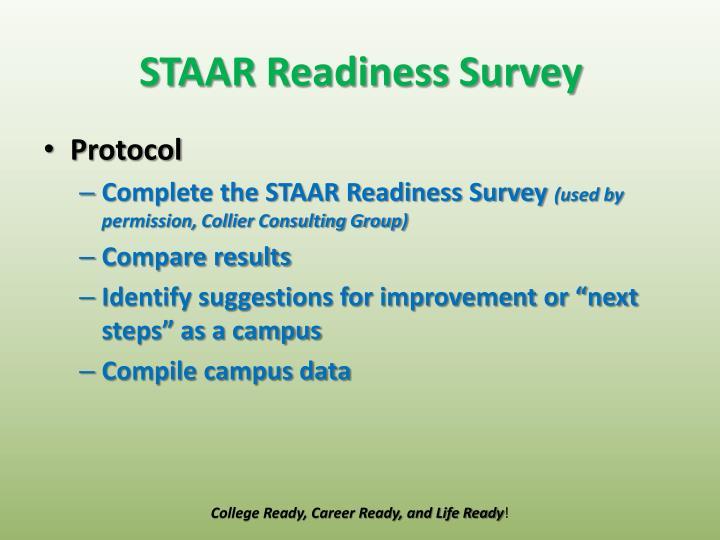 STAAR Readiness Survey