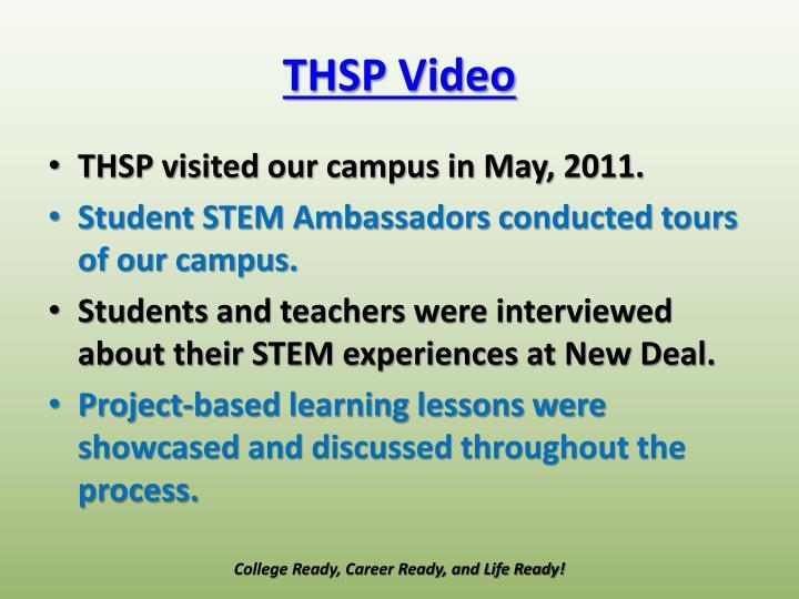 THSP Video