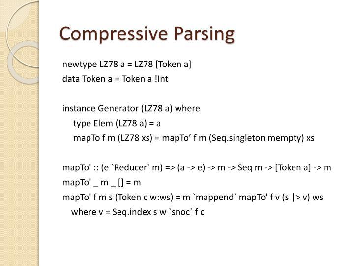 Compressive Parsing