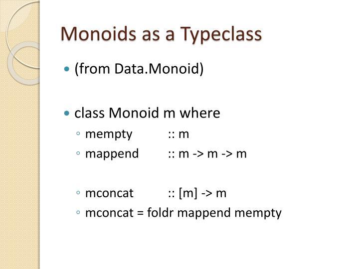 Monoids