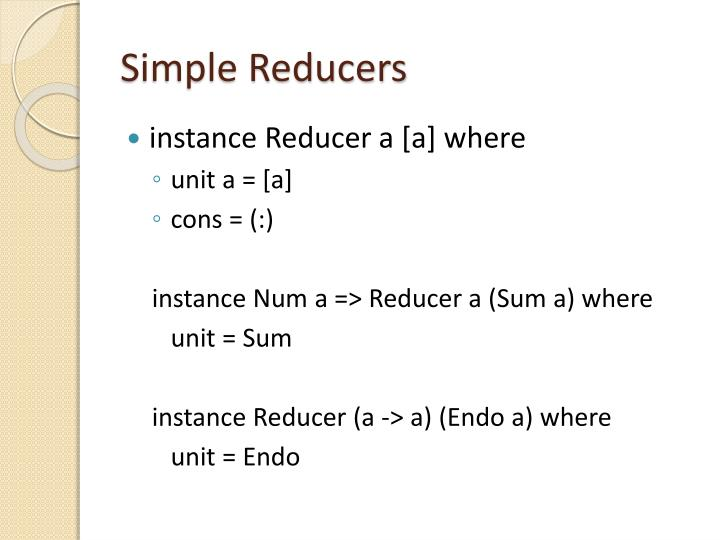 Simple Reducers