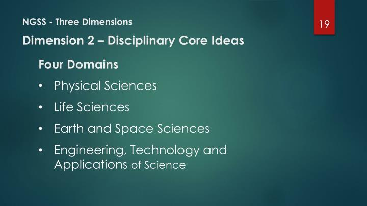 NGSS - Three Dimensions
