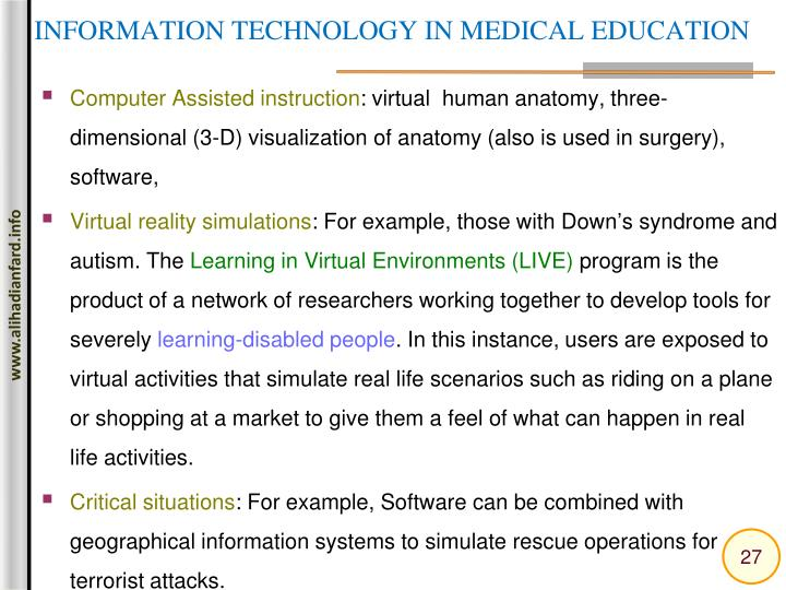 INFORMATION TECHNOLOGY IN