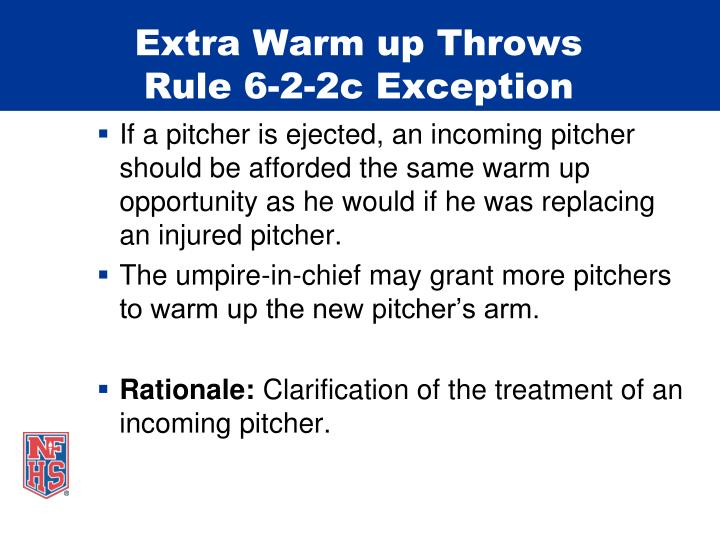 Extra Warm up Throws
