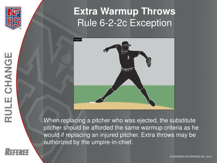 Extra Warmup Throws