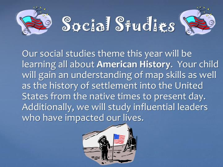 Our social studies theme this year will be learning all about