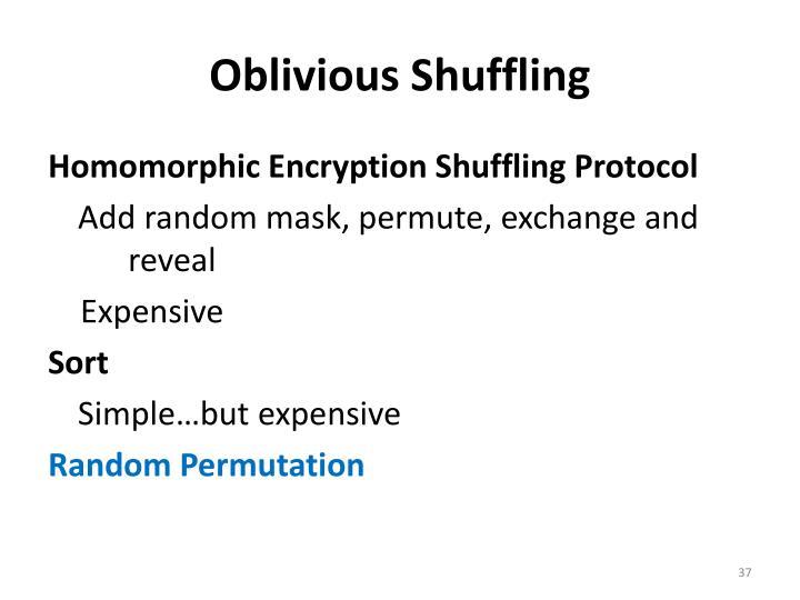 Oblivious Shuffling