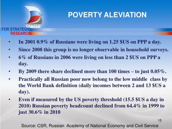 POVERTY ALEVIATION