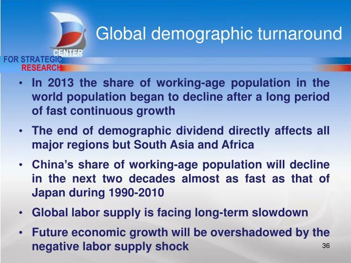 Global demographic turnaround