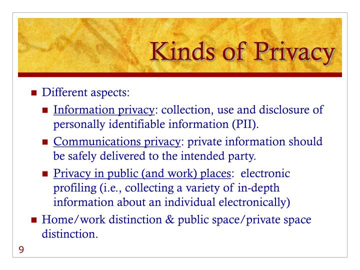 Kinds of Privacy