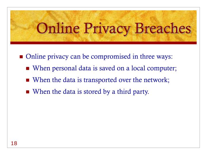Online Privacy Breaches
