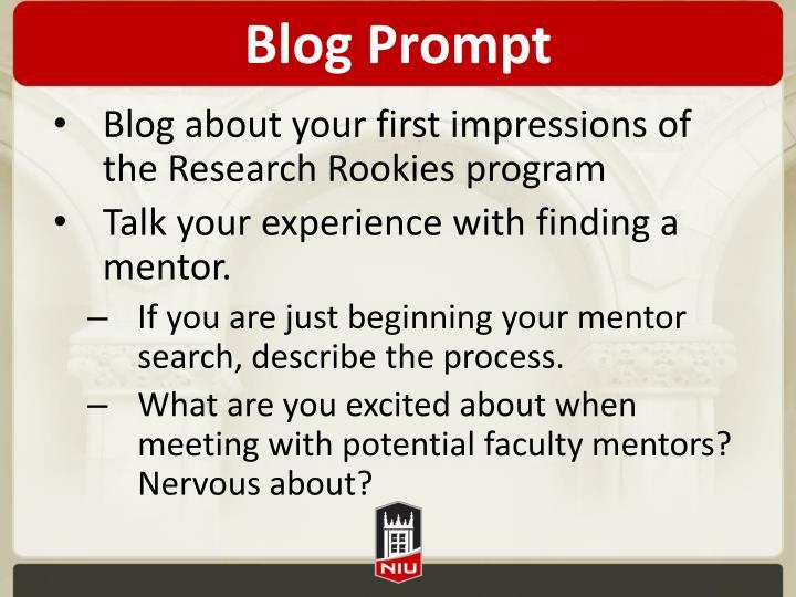Blog Prompt