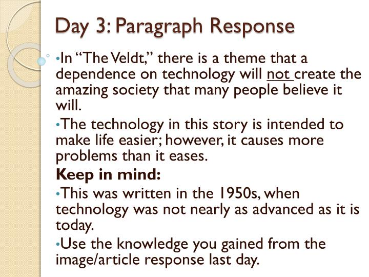 Day 3: Paragraph Response