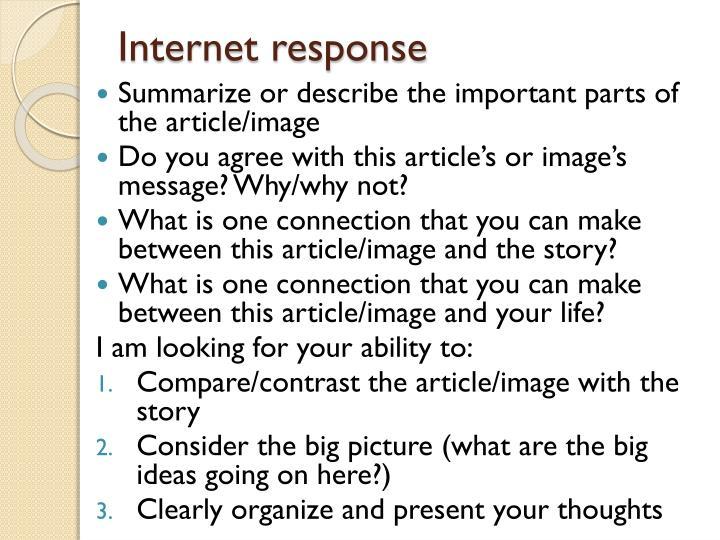 Internet response