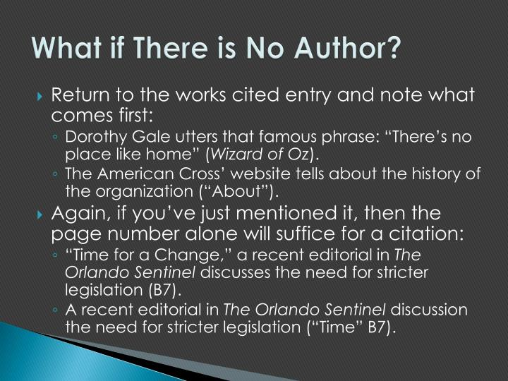What if There is No Author?