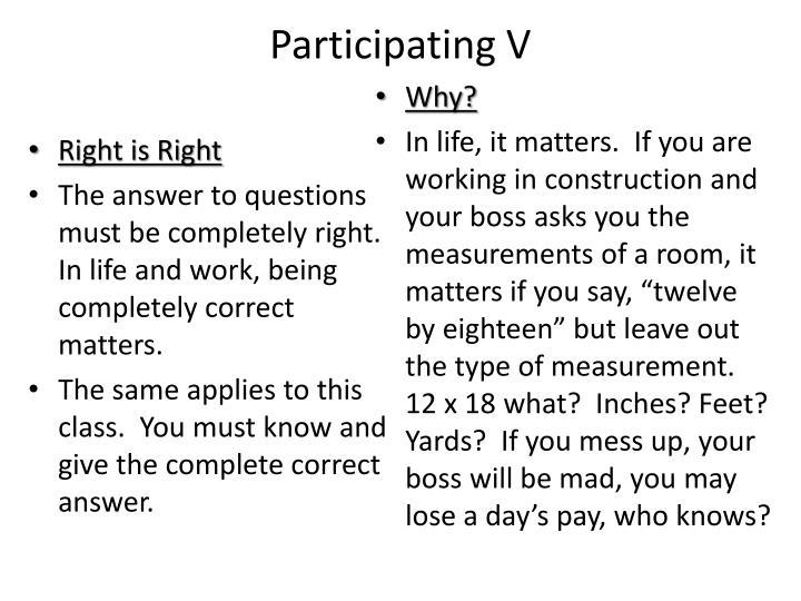 Participating V