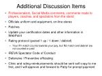additional discussion items1