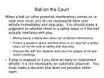 ball on the court