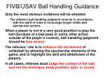 fivb usav ball handling guidance