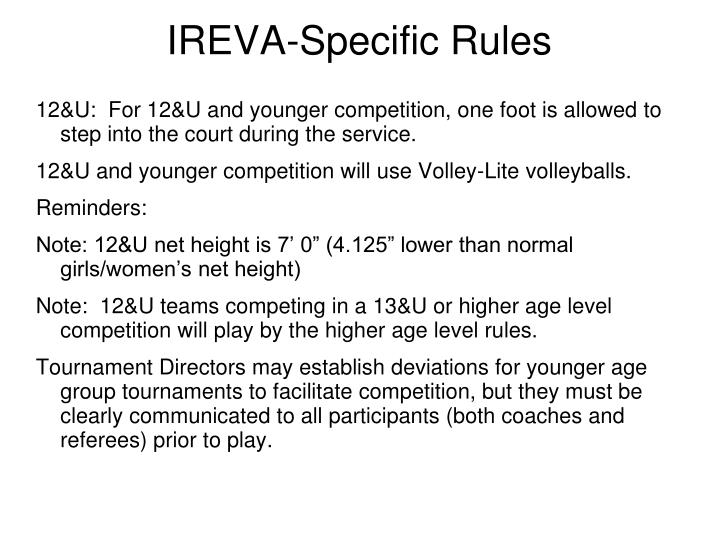 IREVA-Specific Rules