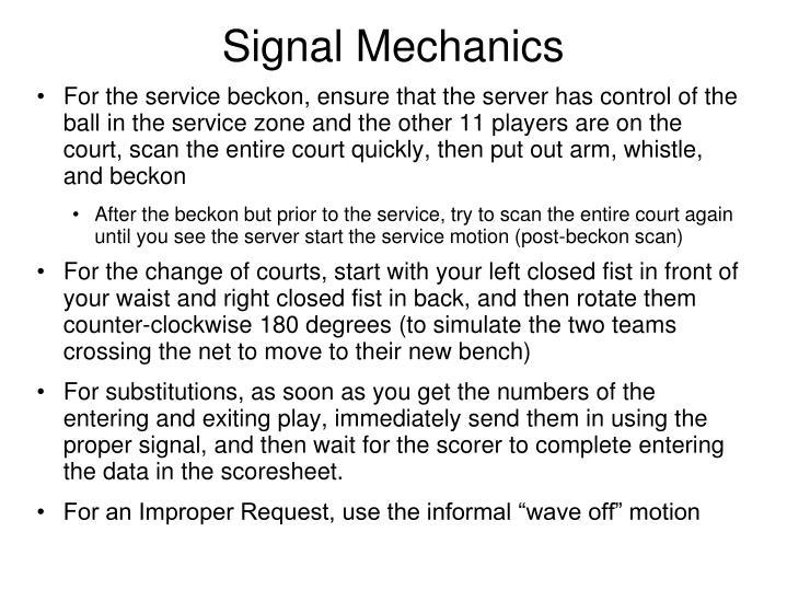 Signal Mechanics