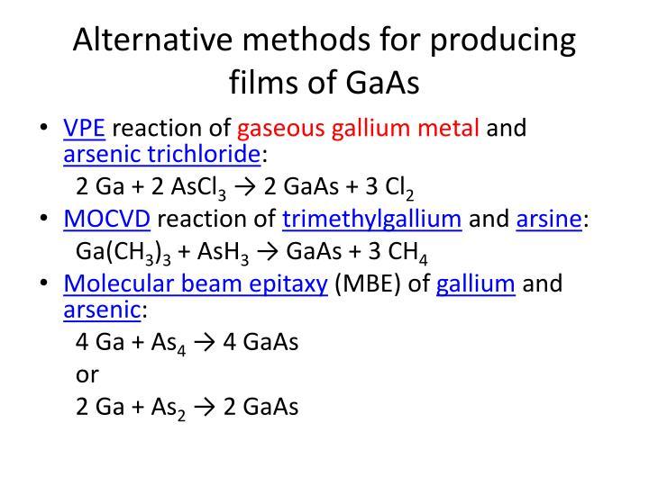 Alternative methods for producing films of