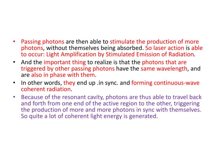 Passing photons
